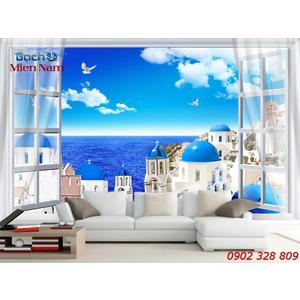 Gạch Tranh 3d Mây Biển CB39