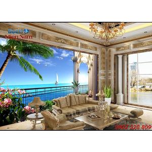 Gạch Tranh 3d Mây Biển CB48