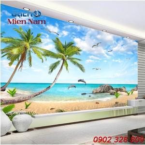 Gạch Tranh 3d Mây Biển CB51