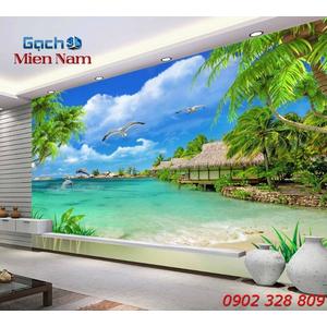 Gạch Tranh 3d Mây Biển CB52