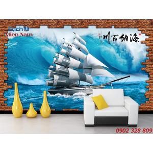 Gạch Tranh 3d Mây Biển CB53