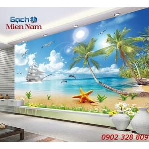 Gạch Tranh 3d Mây Biển CB54