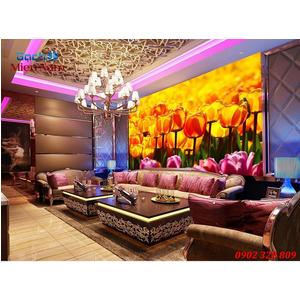 Gạch tranh 3d ốp tường Phòng ngủ HTM80