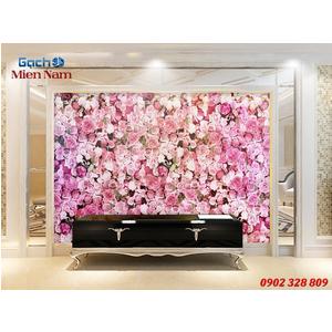 Gạch tranh 3d ốp tường Phòng ngủ HTM89