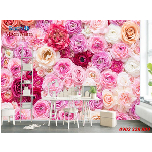 Gạch tranh 3d ốp tường Phòng ngủ HTM96