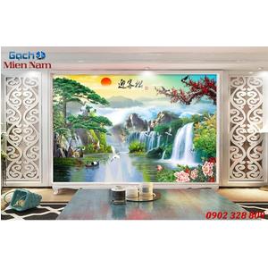 Gạch Tranh 3D Sơn Thủy Hữu Tình STM337