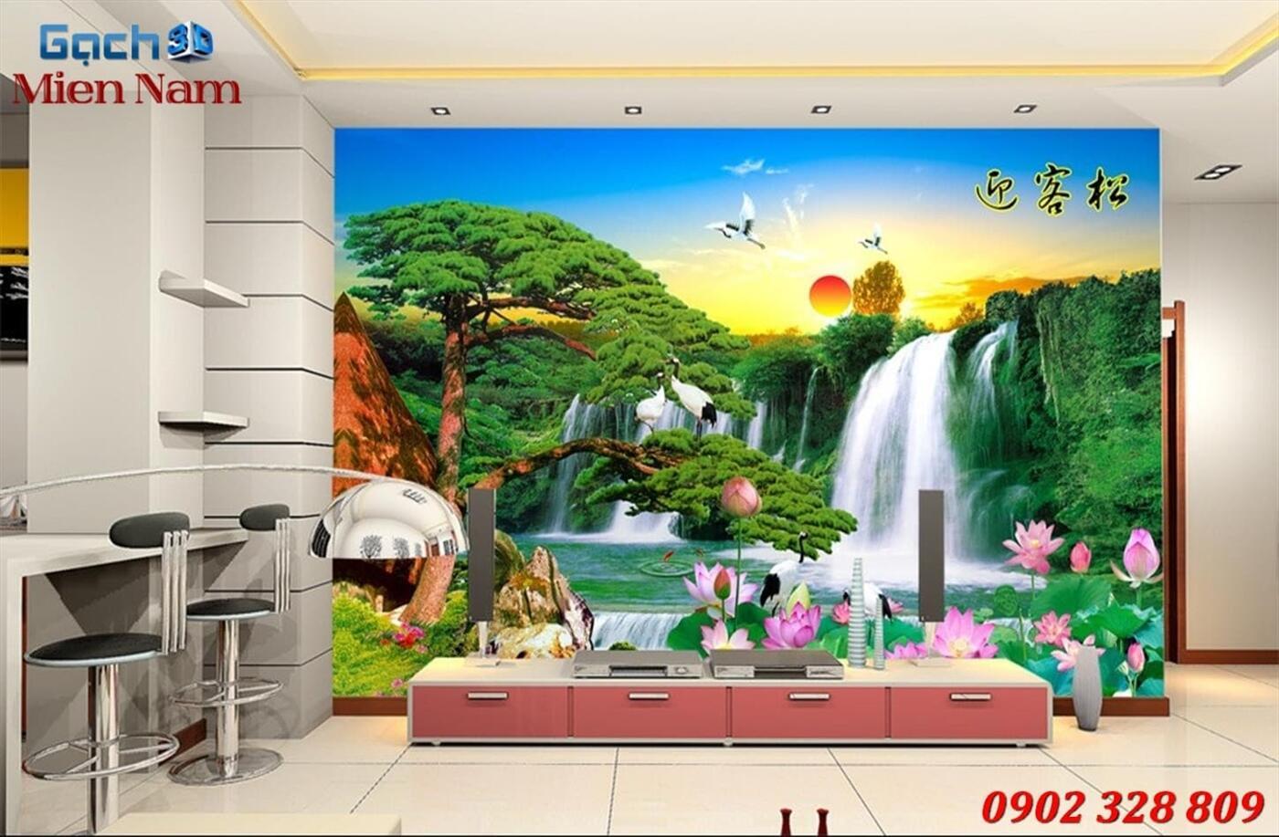 Gạch Tranh 3D Sơn Thủy Hữu Tình STM360