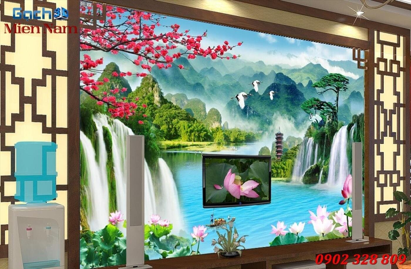 Gạch Tranh 3D Sơn Thủy Hữu Tình STM362