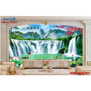 Gạch Tranh 3D Sơn Thủy Hữu Tình STM369