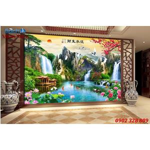 Gạch Tranh 3D Sơn Thủy Hữu Tình STM371