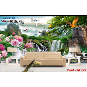 Gạch Tranh 3D Sơn Thủy Hữu Tình STM352
