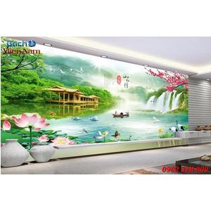 Gạch Tranh 3D Sơn Thủy Hữu Tình STM367