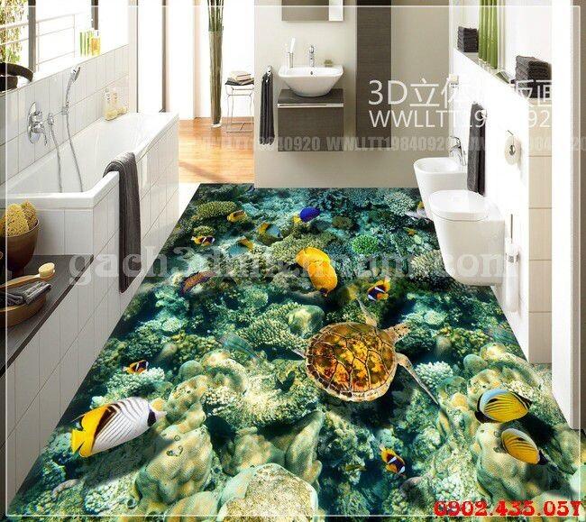 gạch 3d phòng tắm