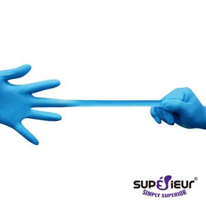 Găng tay không bột nitrile Superieur (xanh)
