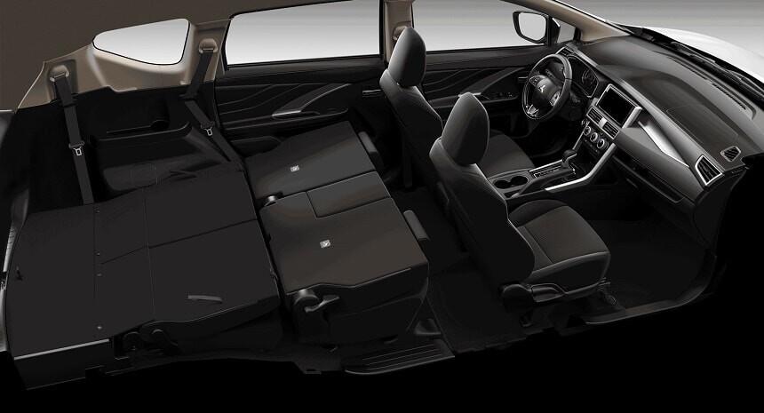 Gâp phẳng 2 hàng ghế linh hoạt trên xe Xpander