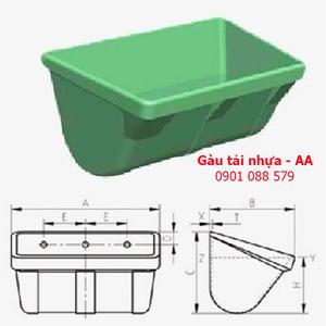 Gầu tải nhựa - gầu múc liệu - AA