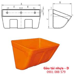 Gầu tải nhựa - gầu múc liệu - D