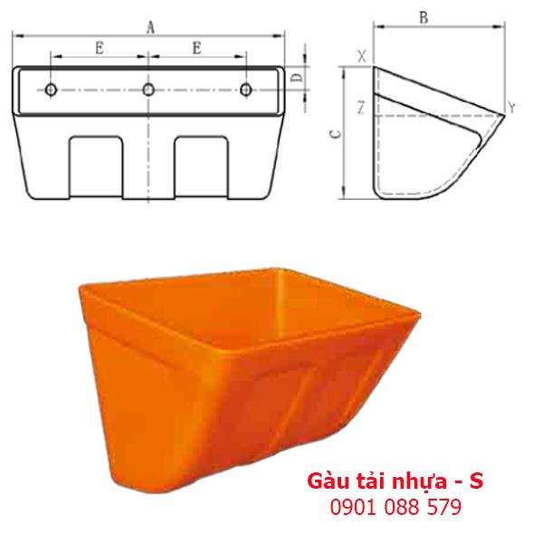 Gầu tải nhựa - gầu múc liệu - S