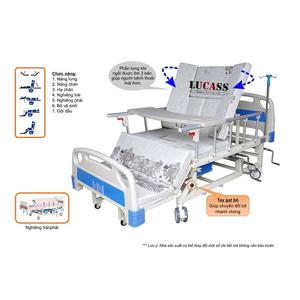 Giường bệnh nhân 4 tay quay Lucass GB-T41