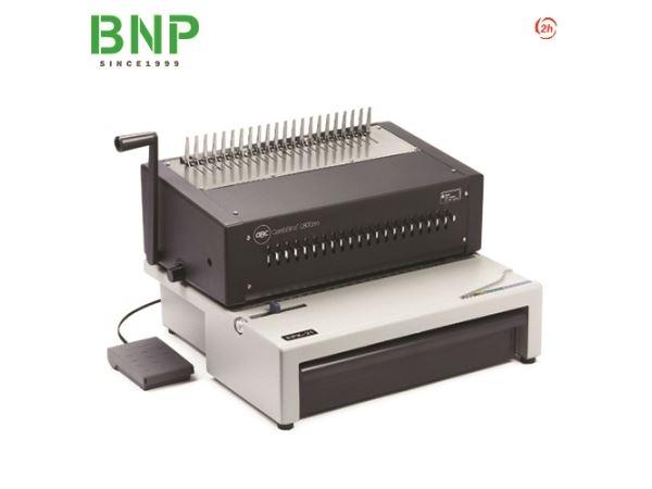 Máy đóng sách vòng xoắn nhựa đục lỗ điện 21 lỗ GBC C800pro