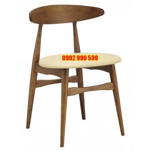 Ghế cafe gỗ đệm ngồi tròn