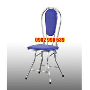 Ghế dựa inox xếp nệm vuông