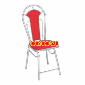 Ghế nhà hàng inox xếp mặt nệm phi 25x0.8mm