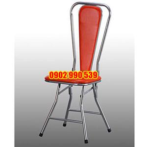 Ghế nhà hàng inox xếp phi 22 x 1 mm