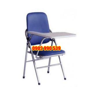 Ghế sinh viên inox lưng lớn nệm xanh
