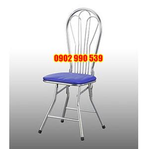 Ghế xếp inox lưng dựa không nệm