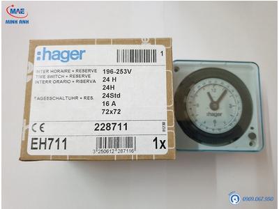 Giá Hager EH711 Chỉ 580K - Công Tắc Hẹn Giờ Timer 24h