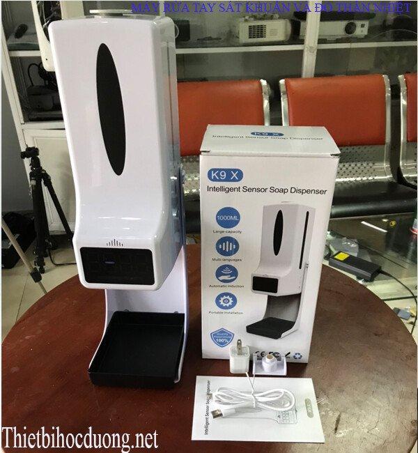 Máy đo nhiệt độ kết hợp xịt rửa tay D104 giá rẻ