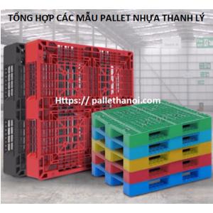 Giá pallet nhựa qua sử dụng, pallet nhựa 1100x1100x150 mm