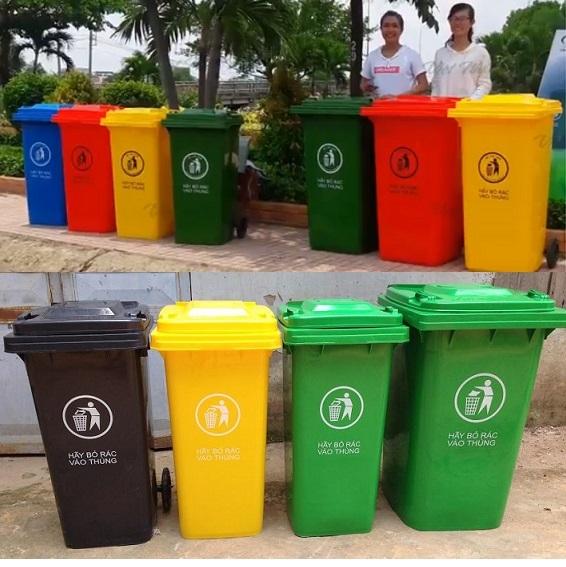 Giá thùng rác nhựa 120 lít 240 lit