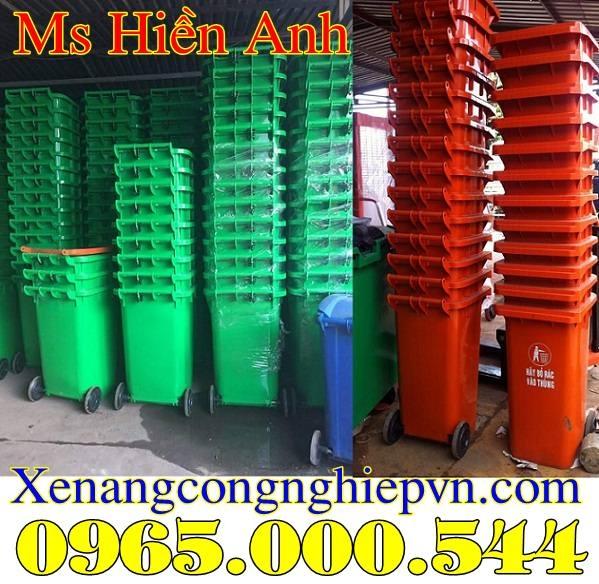 giá thùng rác nhựa 120 lít 240 lít tại Hà Nội