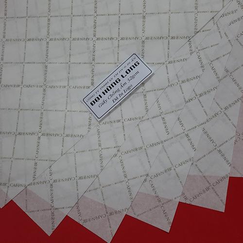 Giấy chống ẩm poluya đã in Logo - Định lượng 32g