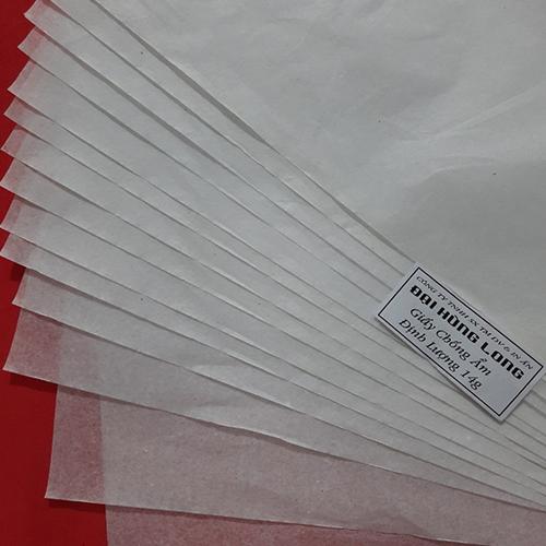 Giấy chống ẩm poluya đã in Logo - Định lượng 14g