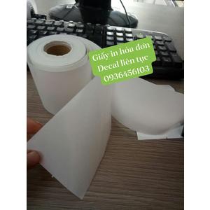 Giấy in hóa đơn bóc dán (Decal nhiệt liên tục)