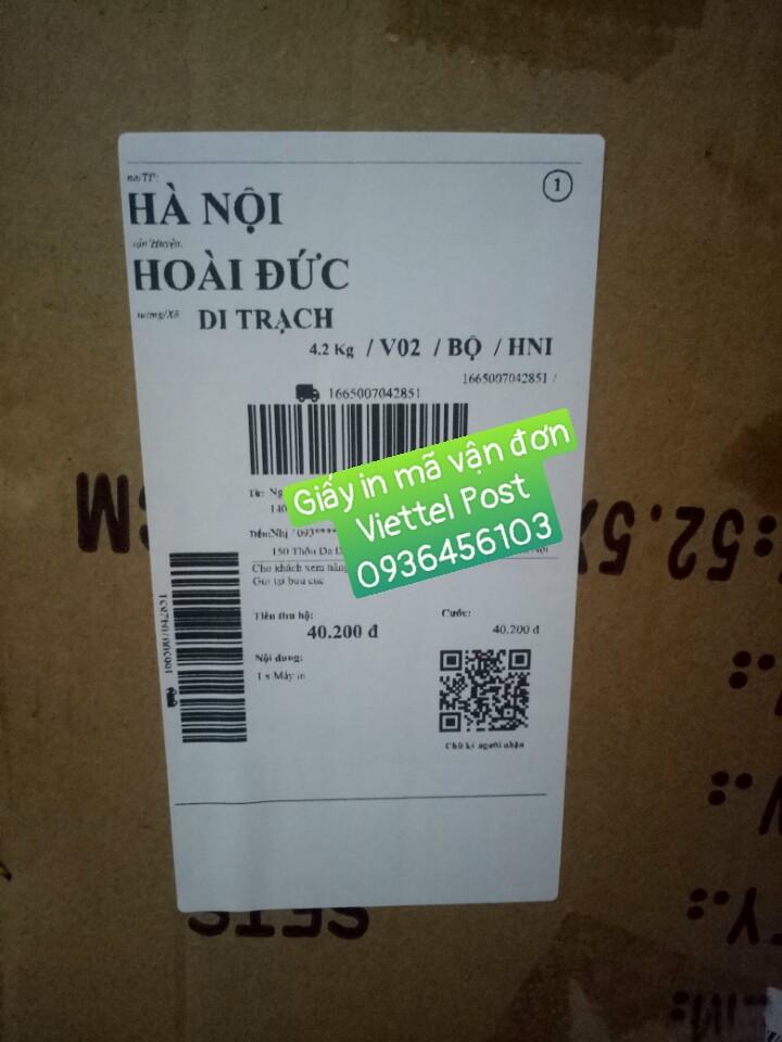 Giấyin tem mã vận đơn Viettel Postkhổ 80*150mm