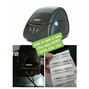 Giấy in tem mã vạch 2 tem 35*22mm cho máy in tem mã vạch HPRT