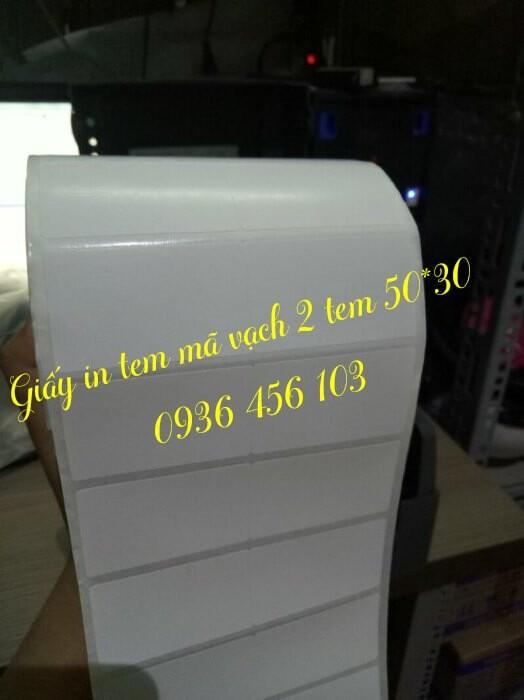 Máy in tem mã vạch Godex G500 in khổ giấy 50*30mm 2 tem/1 hàng