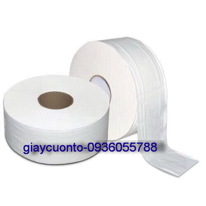 Giấy vệ sinh cuộn to 500 ,2lop