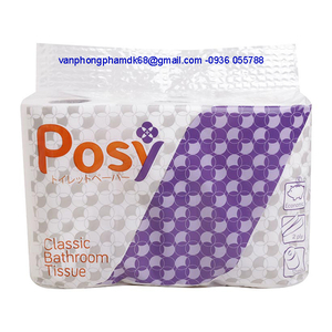 Giấy vệ sinh Posy Classic 12 cuộn có lõi,2 lớp