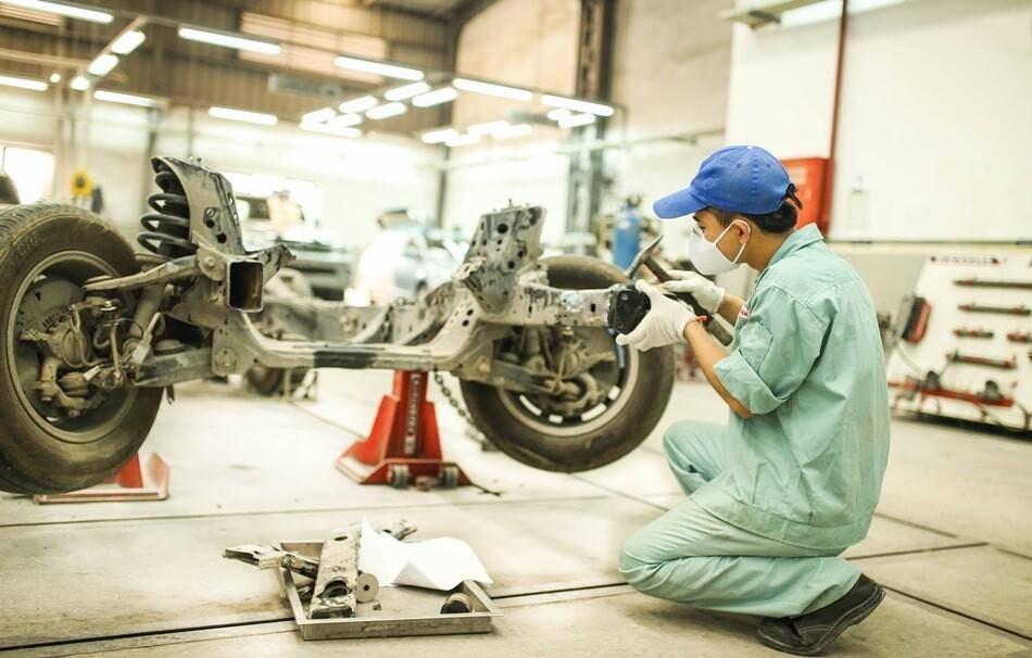 Xưởng sửa chữa tại Toyota Hoài Đức