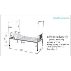 Giường bệnh nhân inox