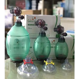 Bóp bóng giúp thở người lớn/trẻ em/sơ sinh PVC Greetmed GT012-300C