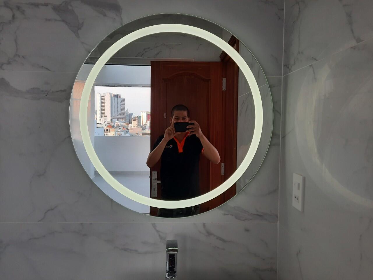 gương led tròn ,gương led cảm ứng