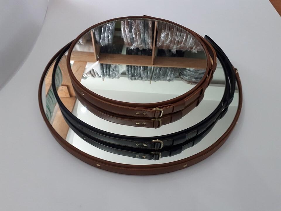 Gương tròn dây da Citybuilding CBJ 011B