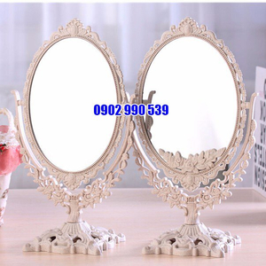 Gương trang điểm công chúa để bàn 2 mặt