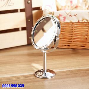 Gương Trang Điểm Mini 2 Mặt Phẳng Để Bàn